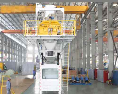 Mobile concrete mixing plant manufacturing process