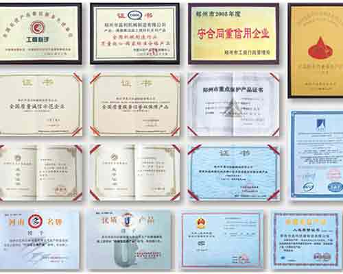 Qualification certificates of AIMIX