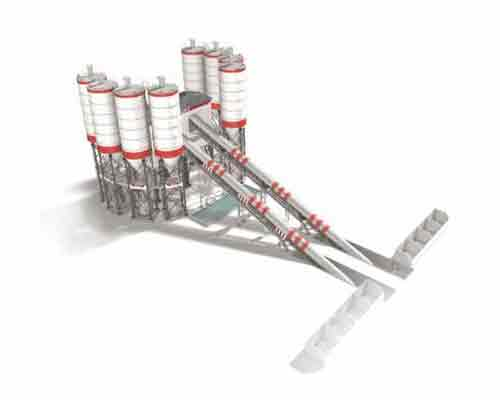 HZS120 Multiple Belts Conveyor Type Concrete Mix Equipment in AIMIX