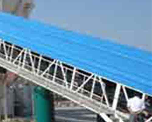 Part of Belt Conveyor in Concrete Batching Plant