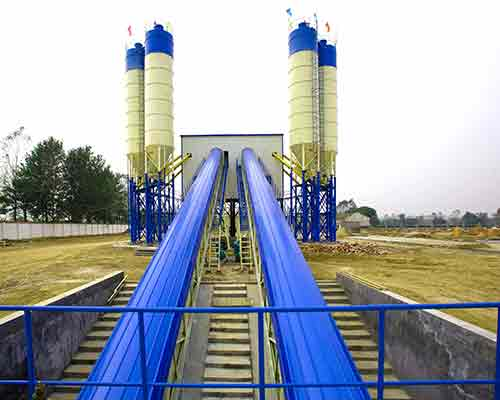 HZS35 Continuous Concrete Mix Plant in AIMIX