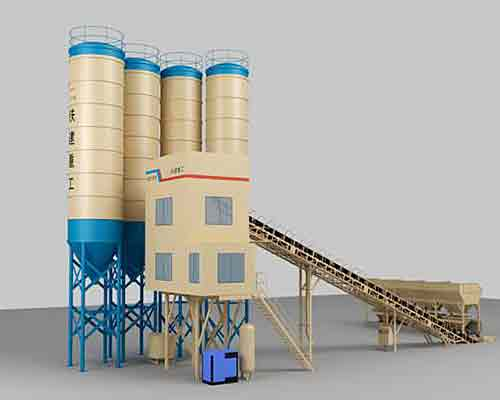 Continuous Type Concrete Batch Plant