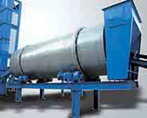Drying mix drum for bitumen production plant