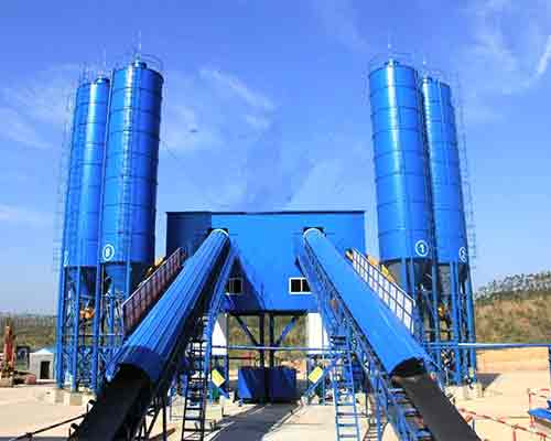 HZS120 Full automatic type Concrete Production Plant for Sale