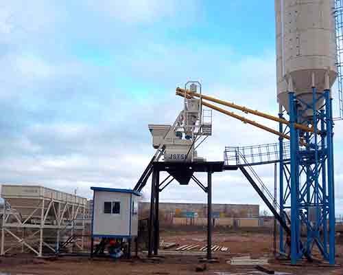 Mini Concrete Mixer Plant : Mini concrete batching plant for sale aimix co ltd