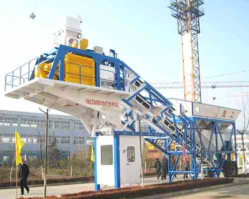 YHZS35 Mobile Concrete production plant for sale in AIMIX