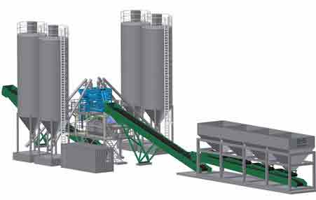 HZS50 Periodic Concrete Batch Plant in AIMIX