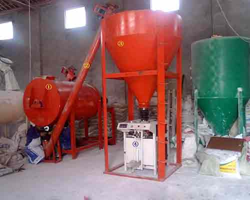 Simple Ready Mixed Dry Mortar Production Machinery for sale