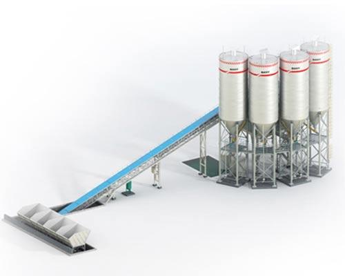 HZS60 Single Belt Conveyor Type Concrete Mixing Machinery