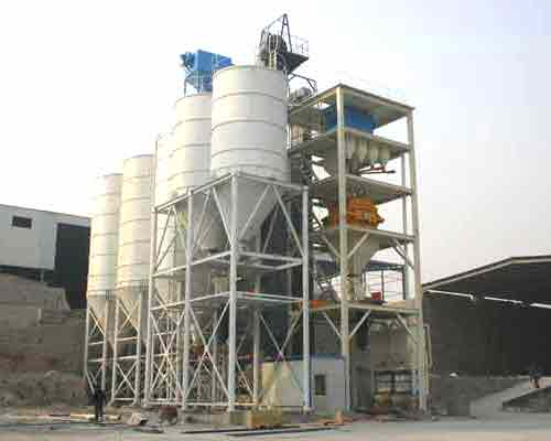 FBJ2000 Ladder Type Dry Mortar Batch Plant for Sale in AIMIX