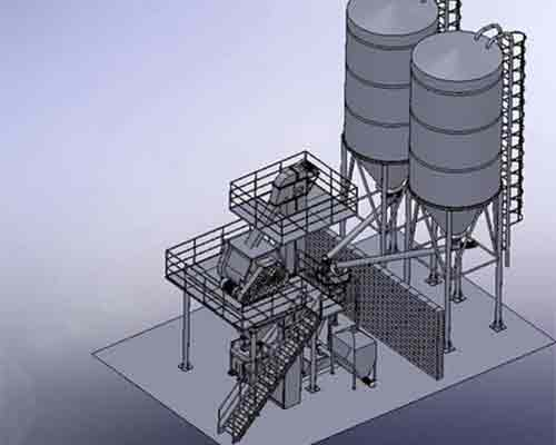 FBJ1200 Ready mix mortar production line for sale in AIMIX