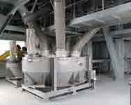Weighing system in dry mortar batch plant