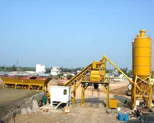 Mini Concrete Batch Plant : Mini concrete batching plant for sale aimix co ltd