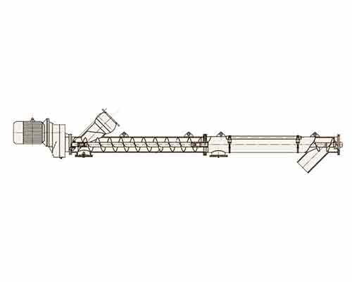Cutaway View of Screw Conveyor