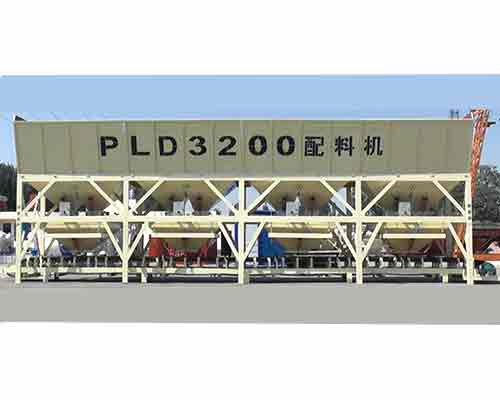 Four hoppers Type PLD3200 Concrete Batching Machine for Sale in AIMIX