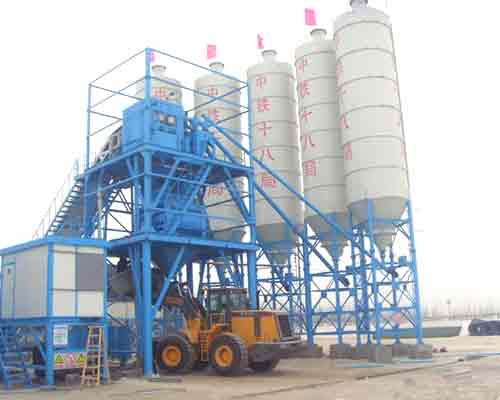 HZS75 Continuous Concrete Batch Mix Plant for Sale