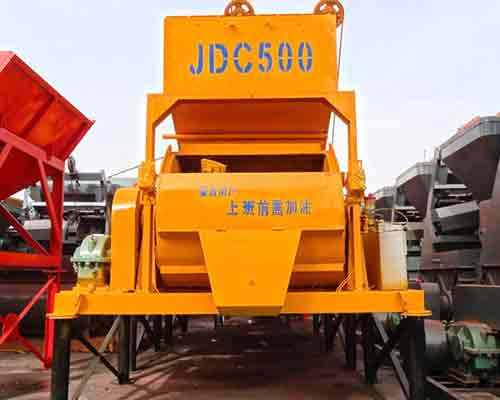 JDC500 Single shaft forced type concrete mixer for sale in AIMIX