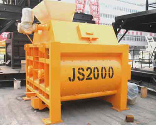 JS2000 Twin shaft concrete mixer for sale