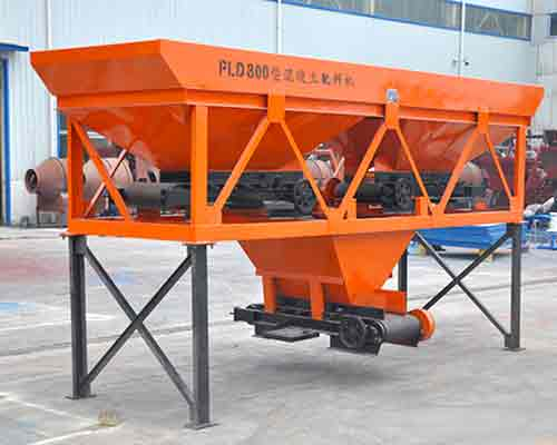 Two hopper Type PLD800 Concrete Batching Machine for Sale in AIMIX