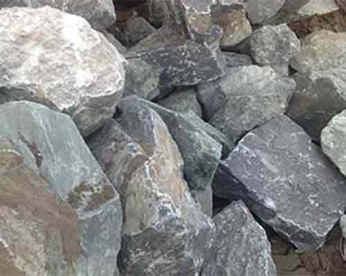 Limestone material for crushing