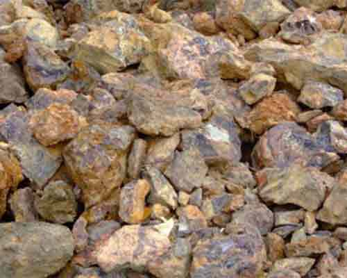 Iron ore material for crushing