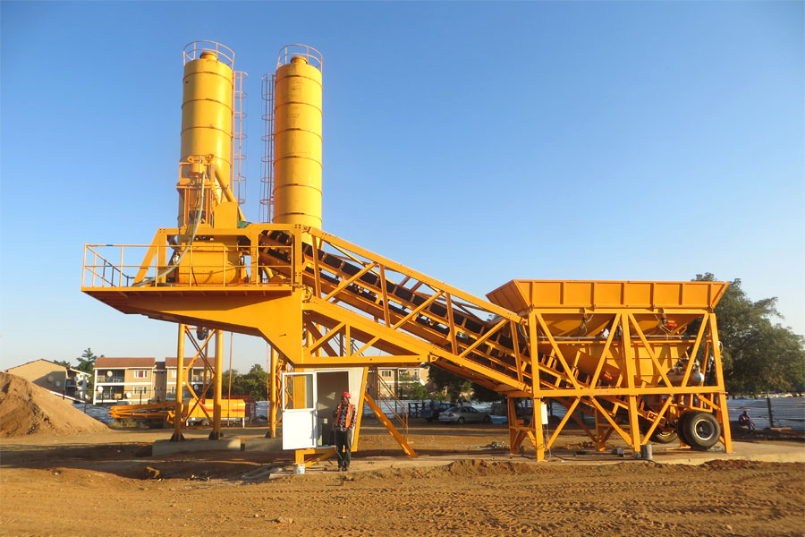 mobile type concrete batching plants