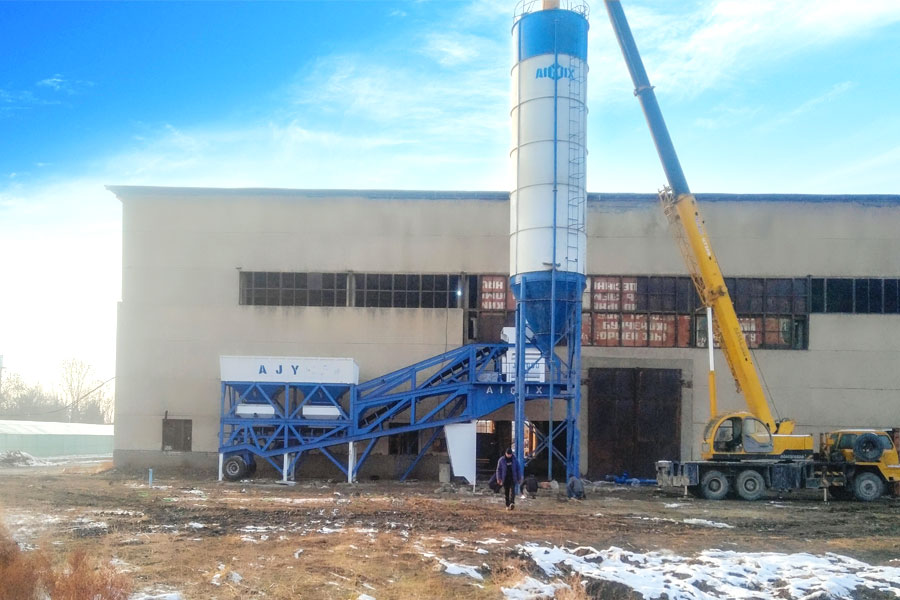 low price mobile concrete batching plant