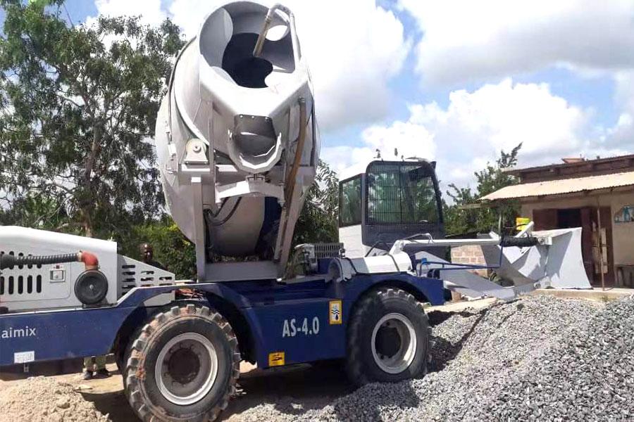 aimix self loading mobile concrete mixer