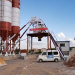 Aimix 50m3ph Skip Hoist Concrete Batching Plant Exported to Pakistan