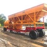Drum Mixer Type Mobile Concrete Batching Plant for Sale