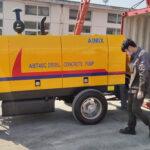 Aimix 40m3 Diesel Concrete Pump Exported to Armenia