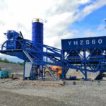 Aimix 60m3ph Mobile Concrete Batching Plant Installed in Philippines