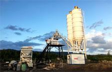 full automatic concrete batching plant